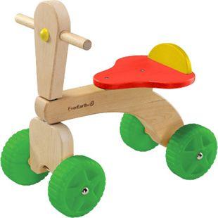 EVEREARTH Kinder Dreirad Roller Rutscher Lauf Lern Rad Hilfe Klein Bike FSC Holz - Bild 1