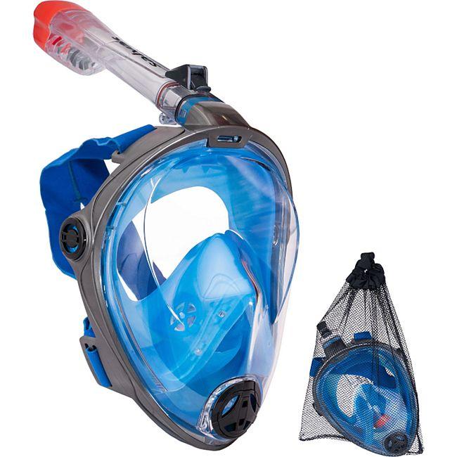 SALVAS Full Face Schnorchel Maske Taucher Brille Voll Gesichts Tauch Maske Größe: S/M - Bild 1