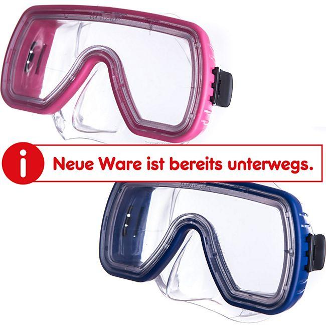 SALVAS Kinder Tauchmaske Onda Taucher Schnorchel Schwimm Brille Maske Mit Nase Farbe: blau - Bild 1