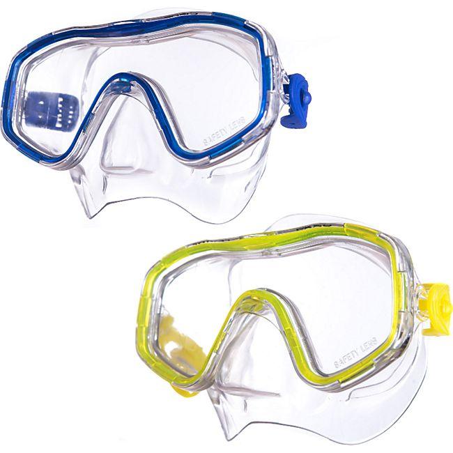 SALVAS Kinder Tauchmaske Easy Schnorchel Taucher Schwimm Brille Maske Mit Nase Farbe: blau - Bild 1