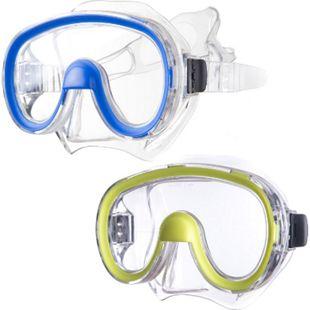 SALVAS Jugend Tauchmaske Splendido Schnorchel Taucher Schwimm Brille Maske Nase Farbe: blau - Bild 1