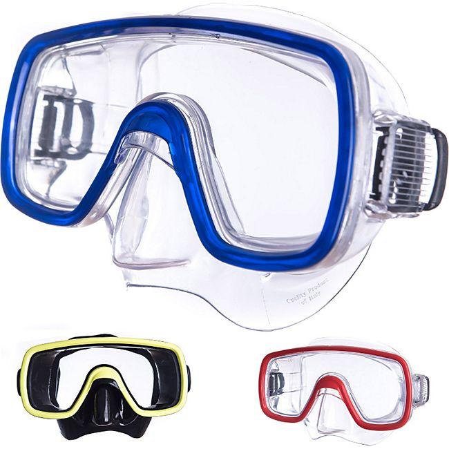 SALVAS Tauch Maske Domino Sr Schnorchel Schwimm Brille Anti Beschlag Erwachsene Farbe: blau - Bild 1