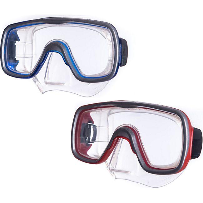 SALVAS Tauch Maske Geo Sr Schnorchel Schwimm Brille Beschlag Silikon Erwachsene Farbe: blau - Bild 1