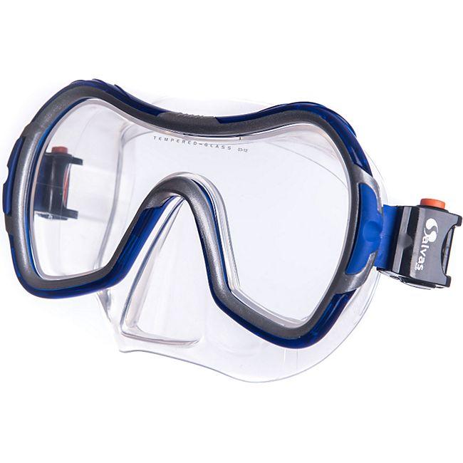 SALVAS Tauch Maske Viva Sr Schnorchel Schwimm Brille Beschlag Erwachsene Silikon - Bild 1