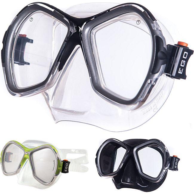 SALVAS Tauch Maske Phoenix Schnorchel Schwimm Brille Beschlag Erwachsene Silikon Farbe: Gelb/transparent - Bild 1