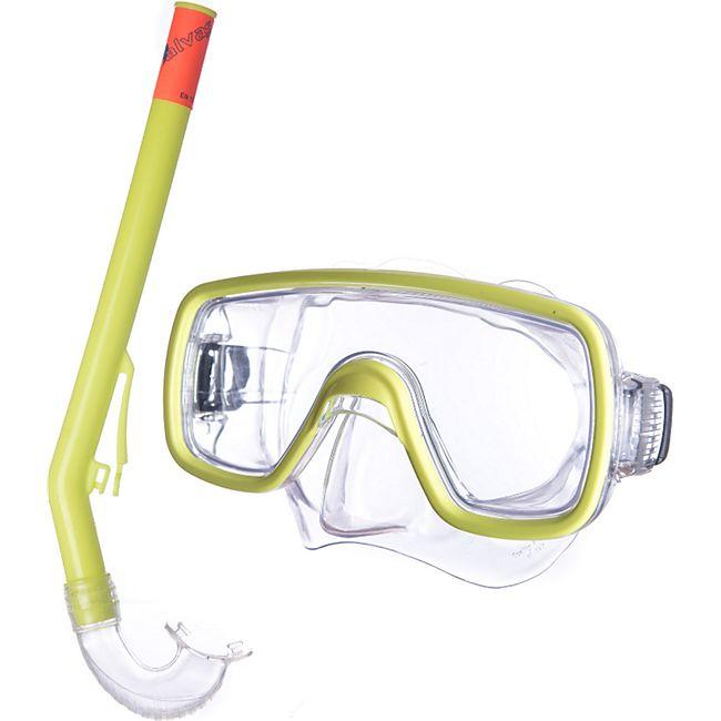 SALVAS Kinder Set Tropea Tauchmaske + Schnorchel Taucher Maske Schwimm Brille - Bild 1