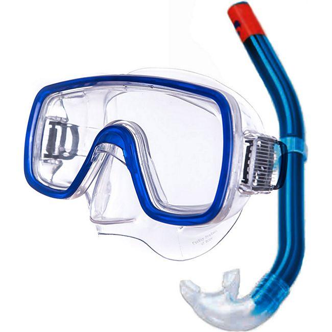 SALVAS Set Kalua Tauchmaske + Schnorchel Taucher Maske Schwimm Brille Erwachsene - Bild 1