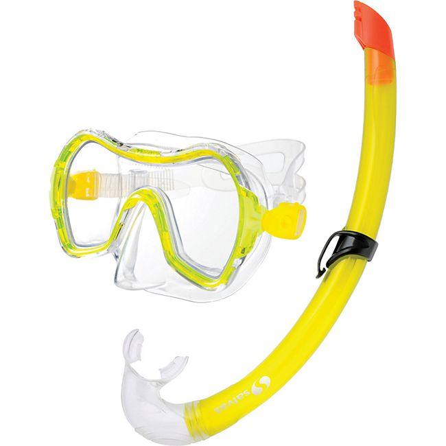 SALVAS Kinder Set Rainbow Tauchmaske + Schnorchel Taucher Maske Schwimm Brille - Bild 1