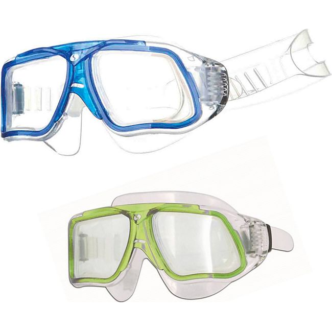 SALVAS Tauch Maske Formula Schnorchel Schwimm Brille Silikon Beschlag Erwachsene Farbe: gelb - Bild 1