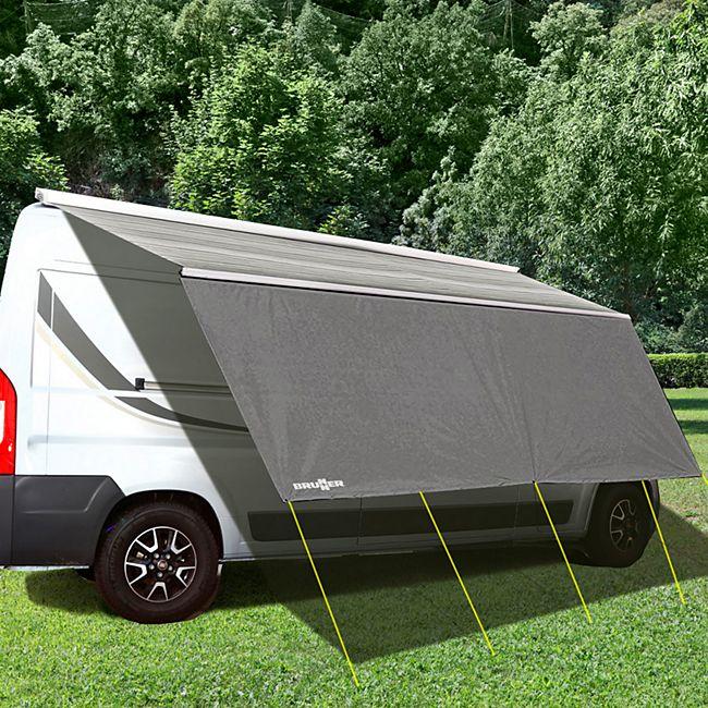 BRUNNER Sonnensegel Sunny View Camping Bus Sonnendach Wohnwagen Womo Öse Markise Größe: 2,4 x 1,9 m - Bild 1