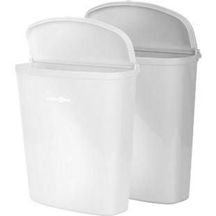 BRUNNER Pillar Abfalleimer + Halterung Müll Tonne Eimer Kompakt Caravan Camping Farbe: Weiß - Bild 1
