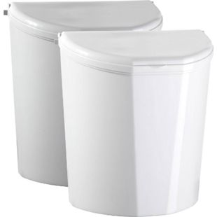 BRUNNER Pillar XL Abfalleimer Halterung Müll Tonne Eimer Kompakt Caravan Camping Farbe: Weiß - Bild 1