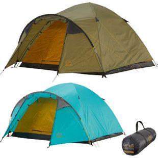 GRAND CANYON Iglu Zelt Topeka 3 Personen Kuppel Trekking Camping Leicht Vorraum Farbe: Blue Grass - Bild 1