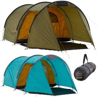 GRAND CANYON Tunelzelt Robson 3 Personen Zelt Familien Camping Leicht Vorraum Farbe: Blue Grass - Bild 1