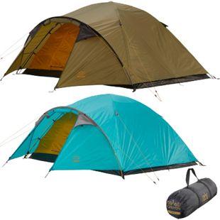 GRAND CANYON Iglu Zelt Topeka 4 Personen Kuppel Trekking Camping Leicht Vorraum Farbe: Blue Grass - Bild 1