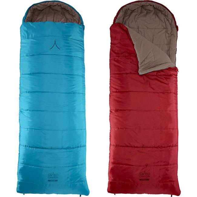GRAND CANYON Decken Schlafsack Utah 205 XL Winter 3 Jahreszeiten 2,2m Lang -20°C Farbe: Caneel Bay - Bild 1