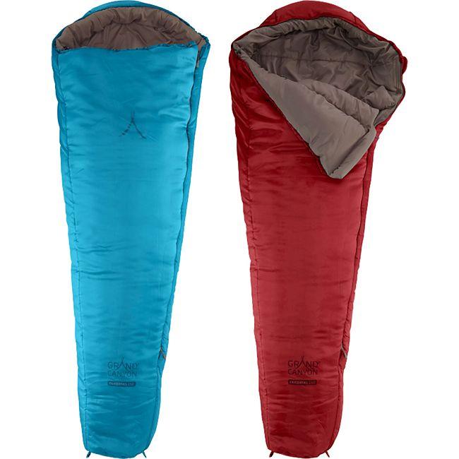 GRAND CANYON Kinderschlafsack Fairbanks 150 Kids Mumien Jugend Schlafsack +2°C Farbe: Caneel Bay - Bild 1