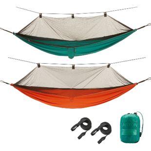 GRAND CANYON Bass Hammock Moskito Reise Hängematte Camping Tropen Netz 150 kg Farbe: Storm - Bild 1