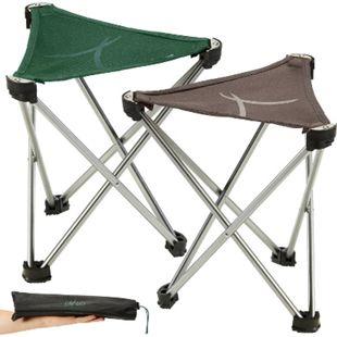 GRAND CANYON Supai Mini Dreibein Falt Hocker 3-Bein Camping Sitz Alu 280g Leicht Farbe: Eden - Bild 1