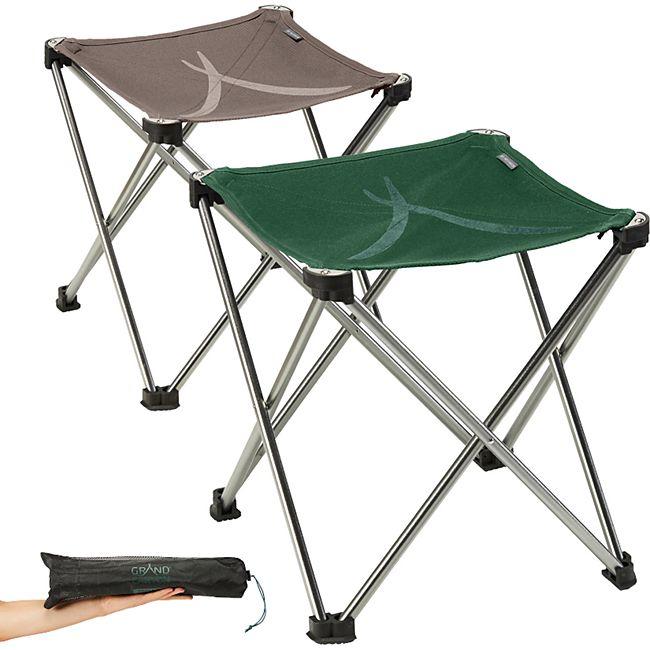 GRAND CANYON Sinyala Mini Klapphocker Falt Hocker Camping Alu 500g Leicht 100 kg Farbe: Eden - Bild 1