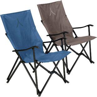 GRAND CANYON El Tovar Camping Falt Stuhl Klapp Garten Outdoor Armlehne Alu 100kg Farbe: Dark Blue - Bild 1