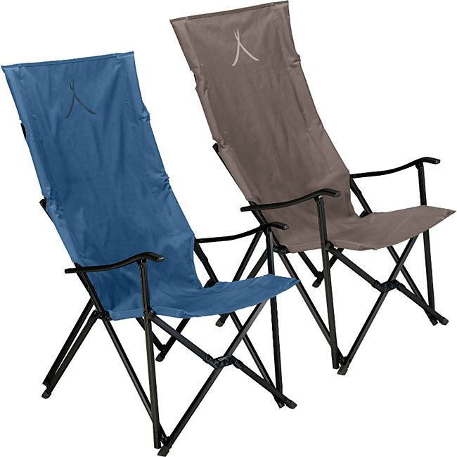 GRAND CANYON El Tovar Hochlehner Camping Falt Stuhl Outdoor Armlehne Alu 100 kg Farbe: Dark Blue - Bild 1