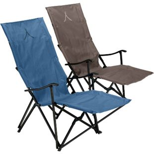 GRAND CANYON El Tovar Hochlehner Lounger Camping Falt Stuhl Armlehne Alu 100 kg Farbe: Dark Blue - Bild 1