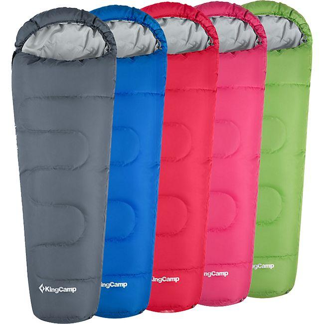 KINGCAMP Mumien Schlafsack Trek 300 Camping Winter Outdoor 2,15m Lang Leicht -13 Variante: Royal Blue - Zipper L - Bild 1