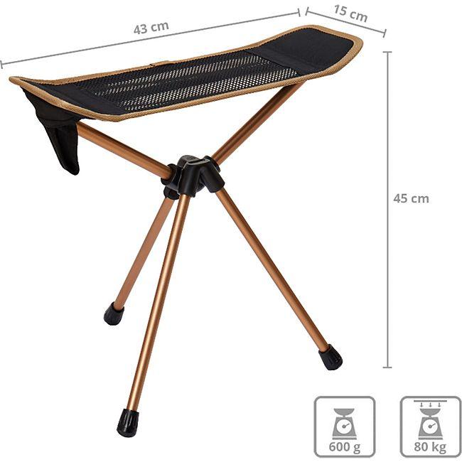 KINGCAMP 3-Bein Mini Falt Hocker Camping Angel Dreibein Alu 600 g Leicht 80 kg - Bild 1