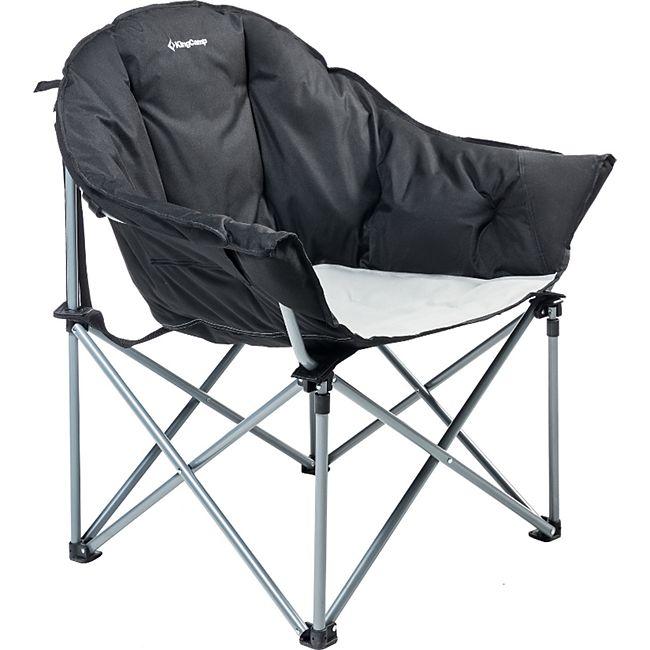 KINGCAMP Lounge Moon Chair XL Camping Klapp Stuhl Falt Sessel Garten Breit 136kg - Bild 1