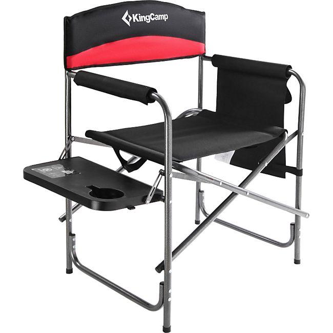 KINGCAMP Regie Stuhl XL Director Camping Falt Klapp Sessel Armlehne Tisch 180 kg - Bild 1