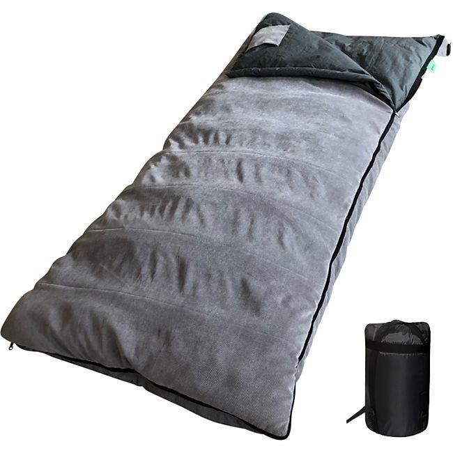 HUMAN COMFORT Deckenschlafsack Airel XL Schlafsack Lang & Breit 100% Baumwolle - Bild 1