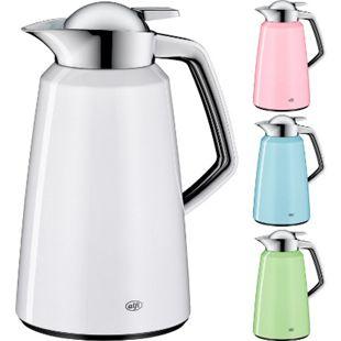 ALFI Thermo Kanne Vito 1 L Kaffee Isolier Flasche Edelstahl Schraubverschluss Farbe: Weiß - Bild 1