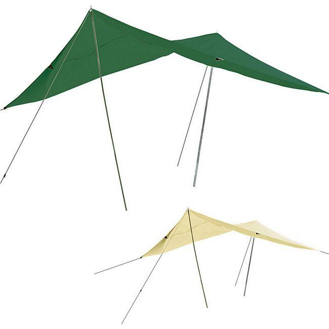 Tarp 3 x 4 m -Sonnensegel -Sonnenschutz -Windschutz -beige grün - UV-Schutz 50 ! Farbe: grün - Bild 1