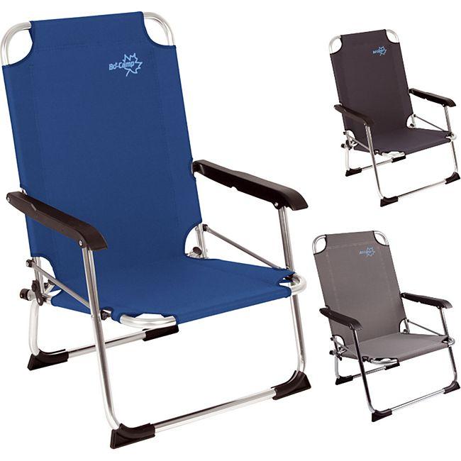 BO-CAMP Alu Strand Stuhl Copa Rio Klappstuhl Camping Angel Garten Sessel Niedrig Farbe: blau - Bild 1