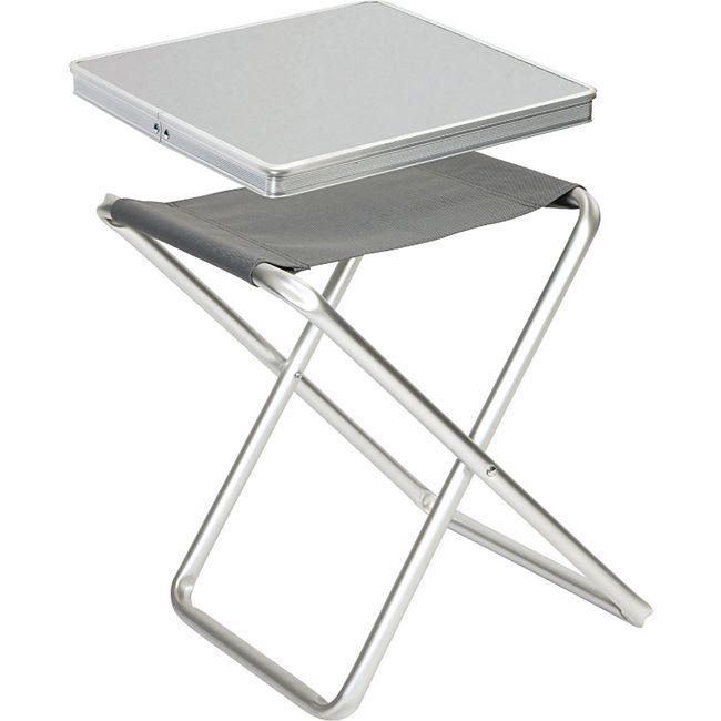 BO-CAMP Mini Alu Klapphocker Camping Tisch Angel Hocker Falthocker Sitz klappbar - Bild 1
