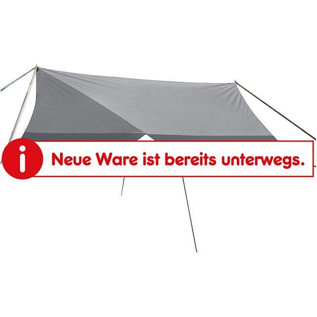 CAMP GEAR Tarp Sonnen Segel Vor Zelt Dach Wind Schutz Camping Plane Garten 4x4m - Bild 1