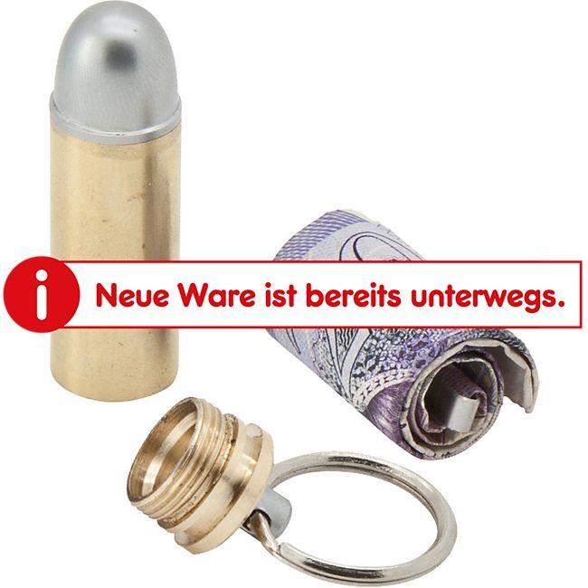 TRUE UTILITY BulletStash Geld Schein Kapsel Mini Tool Box Dose Schlüsselanhänger - Bild 1