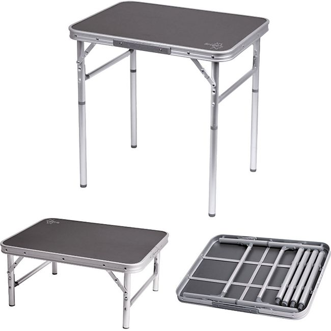 BO-CAMP Alu Mini Camping  Klapptisch Koffer Falt Tisch Garten 2Höhen verstellbar - Bild 1