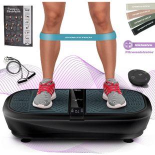 Sportstech 3D Vibrationsplatte VP300 | Mega Fett-Verbrenner Bluetooth... Schwarz - Bild 1