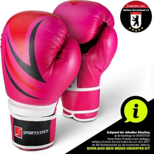 Sportstech Profi Boxhandschuhe BXG10 Kampfsport... Pink - Bild 1