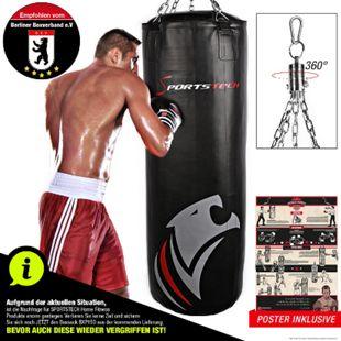 Sportstech Profi-Boxsack BXP100 100 cm mit Trainingsposter - Bild 1