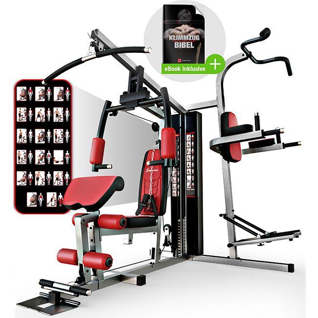 Sportstech Premium Kraftstation HGX200 Multi-Fitnessstation Lat-Zugturm - Bild 1