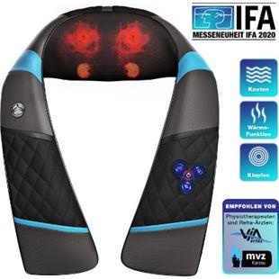 RelaxxNow Massagegerät RXM200 für Schulter Rücken & Nacken, Shiatsu 4D... Schwarz - Bild 1