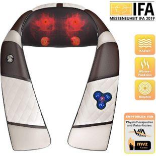 RelaxxNow Massagegerät RXM200 für Schulter Rücken & Nacken, Shiatsu 4D... Weiß - Bild 1
