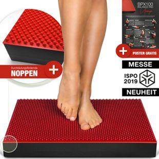 Sportstech BPX100 2in1 Balance Pad + Akupressur Noppen, Balancekissen... Rot - Bild 1