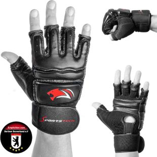 Sportstech MMA Handschuhe BXM10 für Kampfsport  für Damen und Herren... Schwarz, L - Bild 1