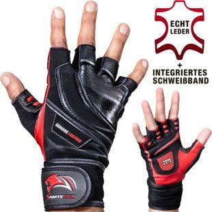 Sportstech Trainingshandschuhe BXF20 mit Handgelenkstütze  für Fitness... Rot, S - Bild 1