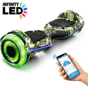"""6,5"""" Premium Hoverboard Bluewheel HX360   Deutsches Qualitätsunternehmen   Infinity LED Reifen & APP... Rot Carbon - Bild 1"""