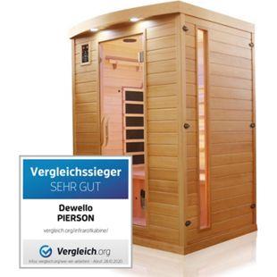 Dewello Infrarotkabine Infrarotsauna PIERSON 135cm x 105cm inkl. Vollspektrumstrahler, Bodenstrahler - Bild 1